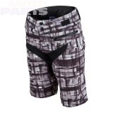 Womens shorts TroyLeeDesigns Skyline Plaid, gray, size M