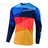 Kids jersey TroyLeeDesigns GP Air Jet, blue/orange, size M